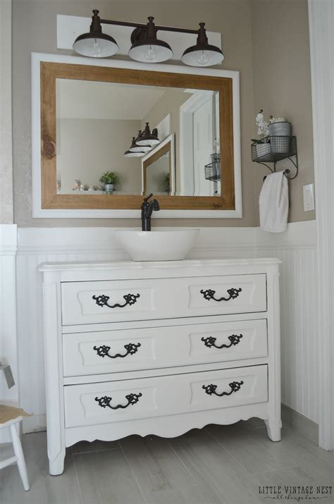 Farm Style Bathroom Vanity Farmhouse Master Bathroom Reveal Vintage Nest