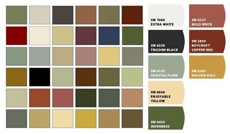 chip it by sherwin williams craftsman color palettes for your home