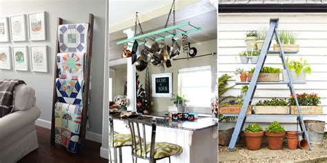 how to decorate the home how to decorate with vintage ladders ways to organize