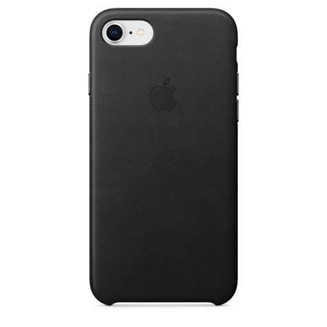 Apple Leather Iphone 7 Black capac protectie spate apple leather black pentru