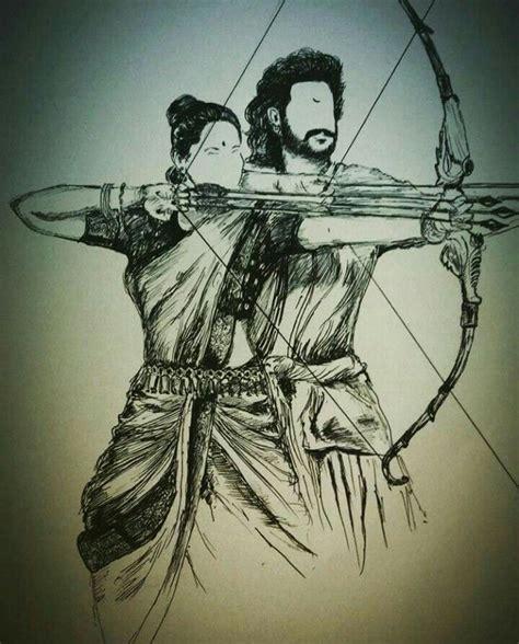 Bahubali 1 Sketches by Baahubali Sketch Baahubali 2 Sketches