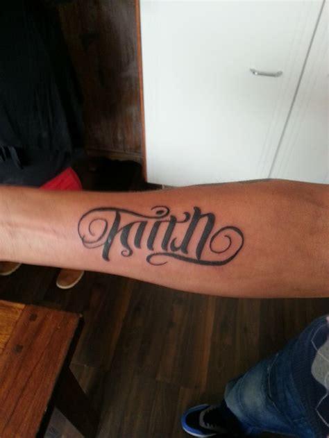 trust tattoo ambigram faith trust tattoos by me