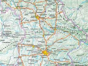 Map Of Southern Germany by Geography Of Bavaria Southern Germany