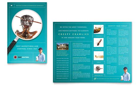 Service Brochure Template by Pest Services Brochure Template Design