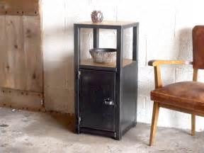 petit meuble d entr 233 e bois m 233 tal au design industriel