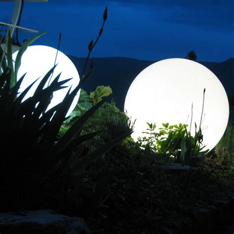 Colour Changing Outdoor Ball Light 30 And 50cm By Jusi Light Balls