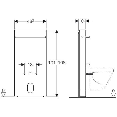 bidet wasseranschluss geberit monolith sanit 228 rmodul f 252 r bidet 101 cm