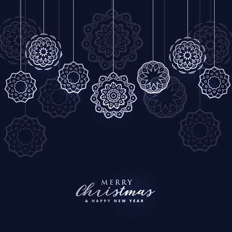dark merry christmas background  hanging balls   vector art stock graphics