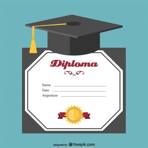 Graduation hat and certificate vector Vector   Free Vector