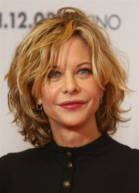 messy hairstyles for women over 50 medium short haircut august 2012
