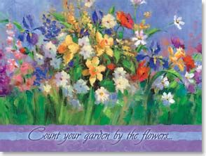 count your garden by the flowers birthday card count your garden by the flowers