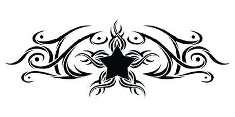 tribal onderrug ster tattooforaweek tijdelijke tattoos