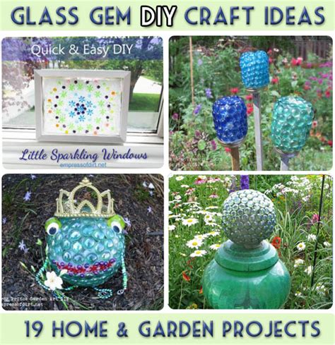 9 kitchen craft ideas home and garden garden art and craft projects with glass gems flat