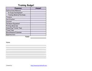Training Budget Template Best Photos Of Sample Training Budget Template Training