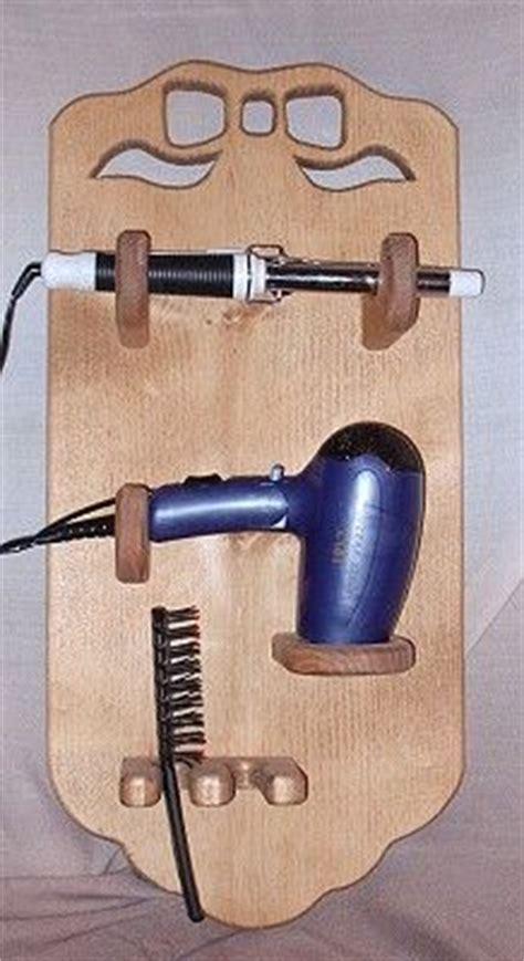 Diy Wood Hair Dryer Holder blowdryer hair curler holder search bathroom hardware hair dryer