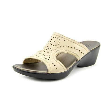 Clarks Ella Dance Women Leather **** Slides Sandal Sandals