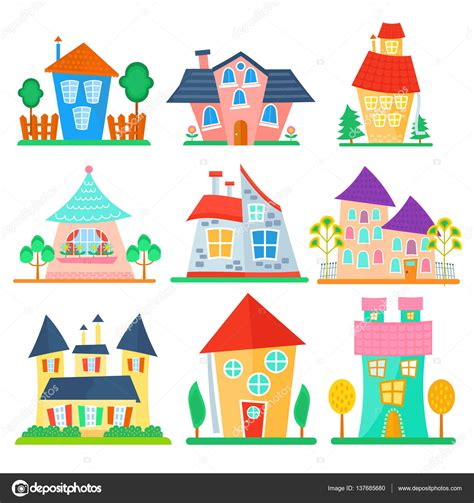 free cartoon house pictures house cartoon vector cute cartoon houses collection funny colorful kid vector