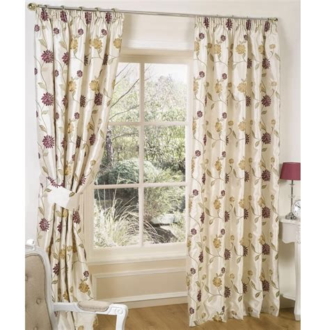 tuscany curtains tuscany floral pencil pleat curtains with tiebacks chintz