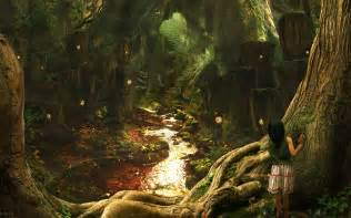 Trippy Wall Murals fairy tale forest wallpapers and images wallpapers