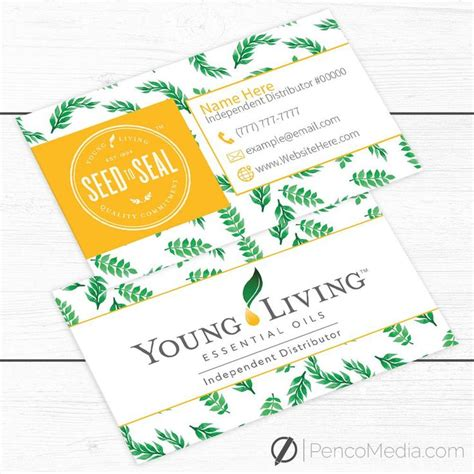 business cards young living gear