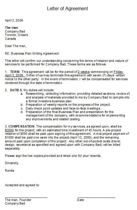 business agreement cover letter printable sle letter of agreement form laywers