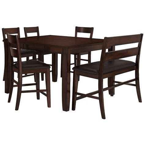 hi bench city furniture mango2 dark tone high table 4 barstools