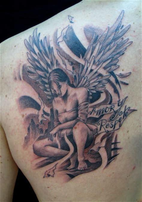 fallen angel tattoo designs sad
