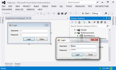 design form visual studio 2012 c visual studio 2012 opening forms when application is