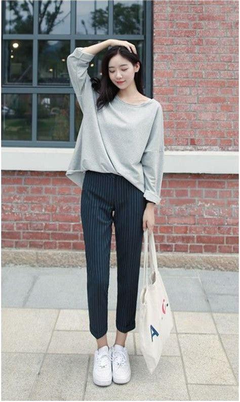 Casual Top Atasan Pakaian Informal Wanita Khaki Classic Style M 33 trousers style and korean fashion on