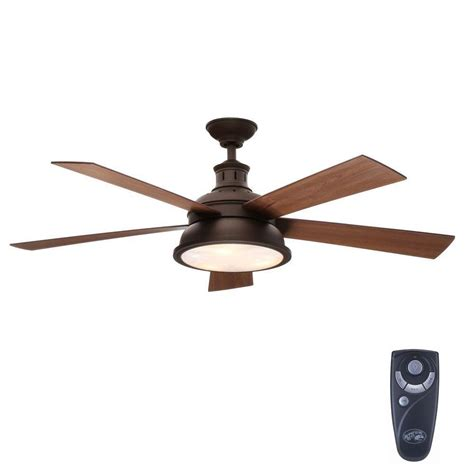 rubbed bronze ceiling fan with light hton bay marlton 52 in indoor rubbed bronze
