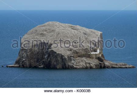 bass rock berwick east lothian scotland stock