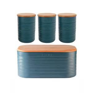 Teal Kitchen Accessories Anika Bread Bin Blue