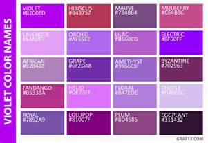 different shades of purple names list of colors with color names graf1x com