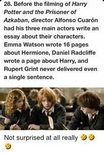 Harry Potter Essay by Daniel Radcliffe Essay
