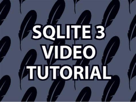 git tutorial derek banas sqlite3 tutorial youtube