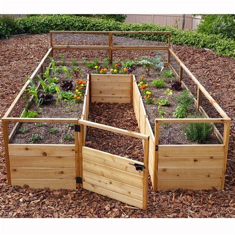 outdoor living today    cedar raised garden bed