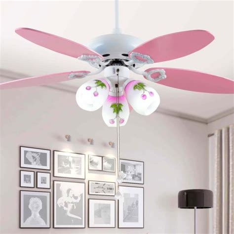 childrens room ceiling fan lights color  simple