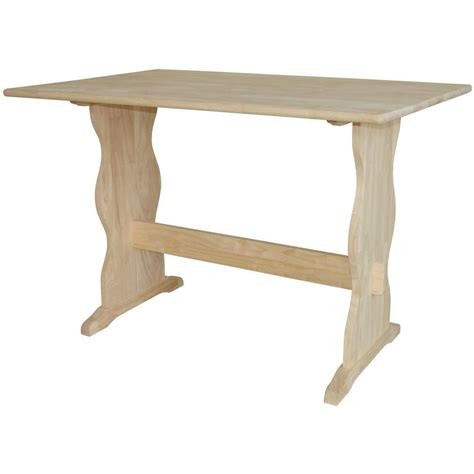 international concepts unfinished trestle dining table t