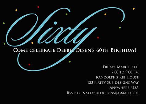 custom 60th birthday invitation by nattysuedesigns1 on etsy