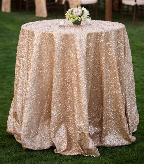 Sequence Table Cloths by Ivory Sequin Table Cloth Chagne Sequin Table Cloth