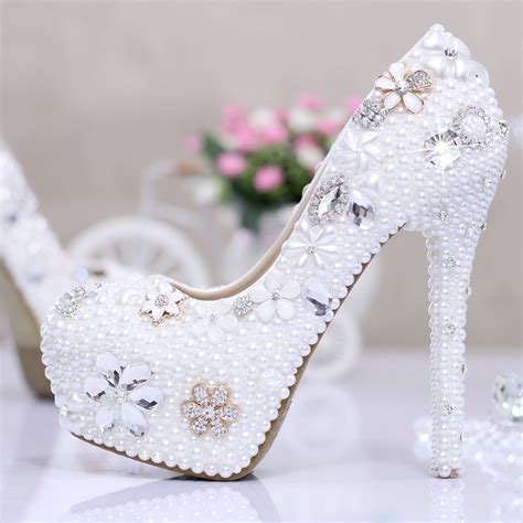 wedding shoes high heels bridal aliexpress buy white ivory high heel pumps wedding