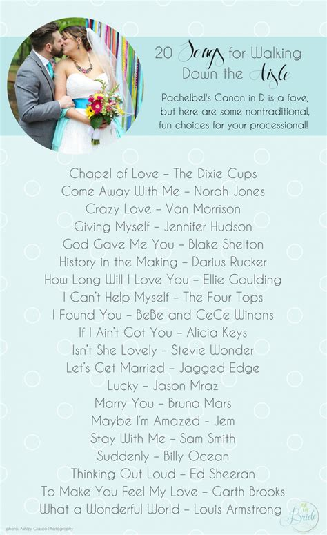 Wedding Aisle Songs Unique by Wedding Songs To Walk The Aisle Non Traditional