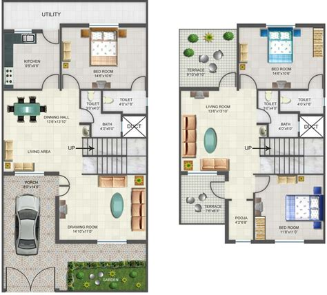 3bhk house plan row house plans small row house floor plans house plans