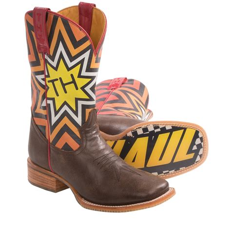 rockstar boots for tin haul rockstar cowboy boots leather square toe for