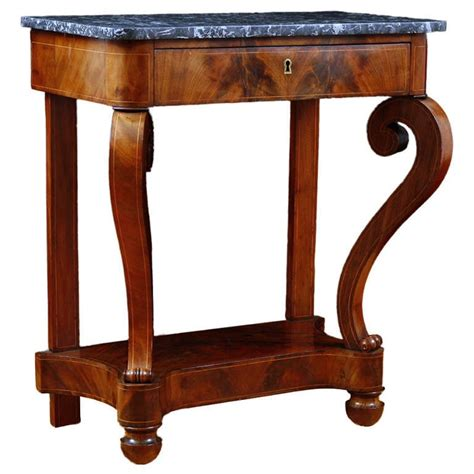 X Console Table Charles X Console Table In Cuban Mahogany With Satinwood Inlays C 1830 Bonnin
