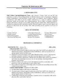 operating room cover letter operating room registered resume sle sle
