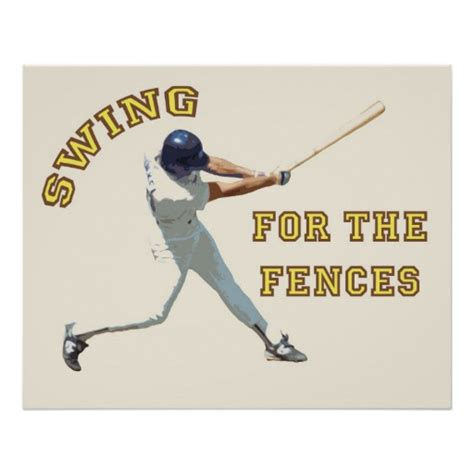 swinging for the fences swing for the fences poster zazzle