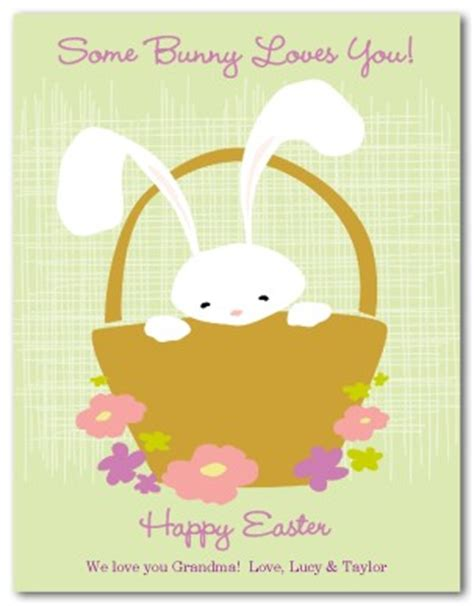 rabbit easter card templates printable easter bunny card template