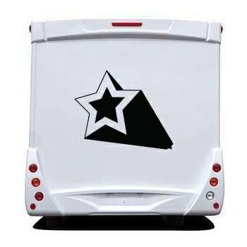 Wohnwagen Aufkleber Sterne by Sticker Wohnwagen Wohnmobil Deko Stern Effet 3d 3