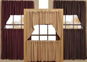 Burlap Kitchen Curtains Soft Burlap Tier Curtains In 3 Colors